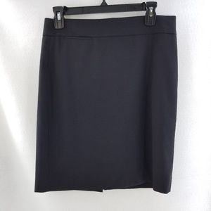 J. CREW FACTORY Black Wool Career Skirt Sz 6